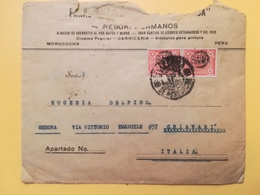 1930 BUSTA INTESTATA PERU BOLLO GOVERNEMENT PER ITALIA ANNULLO LIMA STORIA POSTALE - Perù