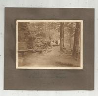 2 Photographies , 165 X 145 Mm,  FORET DE MERVENT , Grotte Du Père Montfort , Recto-verso ,2 Scan , 1924 - Places