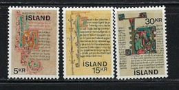Iceland 417-19 Hinged 1970 Set SCV $2.15 - Iceland