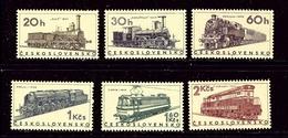 Czechoslovakia 1374-79 MNH 1966 Locomotives - Czech Republic