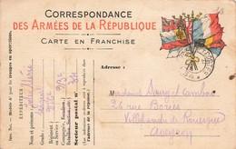Carte Correspondance Franchise Militaire Cachet Secteur Postal 34 1915 Jules Merie Sergent 276e Regiment 23e Cie - Oorlog 1914-18