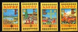 ETP188 - ETIOPIA 1974 ,  Yvert  N. 721/724 *** MNH  MESKEL - Ethiopia