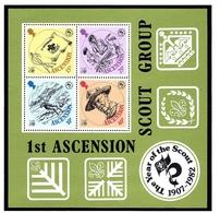Ascension 304a MNH 1982 Boy Scouts S/S - Ascension