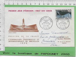 01099- TIMBRE ENVELOPPE -EXPO 58 - 1958 – Brüssel (Belgien)