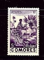 Comoro Is 34 Used 1950 Issue - Comoros