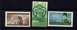 Egypt 292-94 MNH 1951 Sports - Egypt