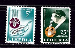 Liberia 407 And C149 MNH 1963 Freedom From Hunger - Liberia