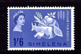 St Helena 173 NH 1963 Freedom From Hunger - Saint Helena Island
