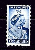 Seychelles 151 MNH 1948 KGVI Silver Wedding Low Value - Seychelles (1976-...)