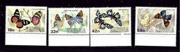 Zambia 220-23 MNH 1980 Butterflies - Zambia (1965-...)