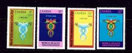 Zambia 236-39 MNH 1981 Communications And World Health Organization - Zambia (1965-...)