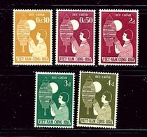 South Vietnam 83-87 MNH 1958 Set - Vietnam