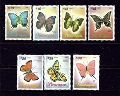 Nicaragua 1567-73 MNH 1986 Butterflies - Nicaragua