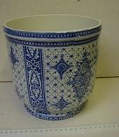 DM. 23. Pot En Faïence B.F.K. Bruges. Décor Bleu - Boch (BEL)