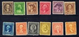 U.S. 704-15 Hinged 1932 George Washington Bicentennial SCV 2017 $22.50 - United States