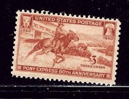 U.S. 894 MNH 1940 Pony Express - United States