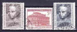 Tchécoslovaquie 1952 Mi 737-9 (Yv 646-8), Obliteré - Used Stamps