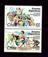 Chile 965a MH 1991 Pan-Am Games Pair - Chile