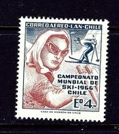 Chile C264 MNH 1966 Skiers - Chile