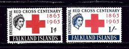 Falkland Is 147-48 MNH 1963 Red Cross - Falkland Islands