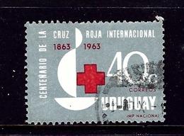Uruguay 707 Used 1964 Red Cross Centennial - Uruguay