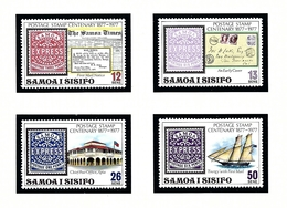 Samoa 458-61 MNH 1977 Postage Stamp Centenary - Samoa