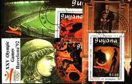 5517bis ) Guyana : Olympic Games Barcelona 92-3 BF  -USATI - Guyane (1966-...)