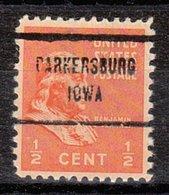 USA Precancel Vorausentwertung Preo, Locals Iowa, Parkersburg 713 - Vereinigte Staaten