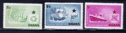Ghana 14-16 NH 1957 Ships - Ghana (1957-...)