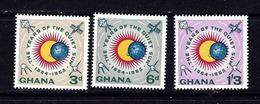 Ghana 164-66 MNH 1964 Quiet Sun Year - Ghana (1957-...)