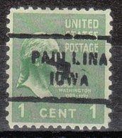 USA Precancel Vorausentwertung Preo, Locals Iowa, Paulilina 712 - Vereinigte Staaten
