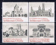 U.S. 1841a 1980 Architecture Block Of 4 - Plate Blocks & Sheetlets