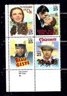 U.S. 2448a MNH 1990 Movie Stars Zip Code Block - Plate Blocks & Sheetlets