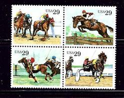 U.S. 2759a MNH 1993 Block Of 4 Sporting Horses - Plate Blocks & Sheetlets