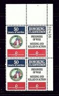 U.S. 1421-22 MNH 1970 Honoring U.S. Servicemen Plate Block - Plate Blocks & Sheetlets