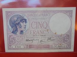 FRANCE 5 FRANCS 1939 CIRCULER (F.1) - 1871-1952 Antiguos Francos Circulantes En El XX Siglo