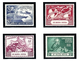St Kitts-Nevis 95-98 MNH 1949 UPU 75th Anniversary (KA) - St.Kitts And Nevis ( 1983-...)