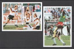 E1097 DOMINICA SPORT FOOTBALL FIFA WORLD CUP USA 1994 !!! 2BL MNH - Coupe Du Monde