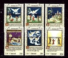 """St Vincent 509-14 MNH 1977 Overprinted """"Specimen"""" - St.Vincent (1979-...)"""