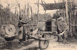 S2258 Cpa Asie - Viet Nam - Tonkin,conducteur De Brouette Passant Sous La Porte De Son Village - Vietnam