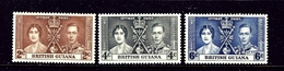 British Guiana 227-29 MH 1937 KGVI Coronation - British Guiana (...-1966)