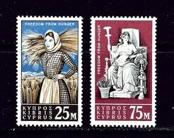 Cyprus 222-23 MNH 1963 Cypriot Farm Girl - Chypre (...-1960)