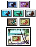 Dominica 421-26a MNH 1975 Fish With S/S - Dominica (...-1978)