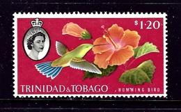 Trinidad And Tobago 101 MNH 1960 Hummingbird And Flower - Trinidad & Tobago (...-1961)