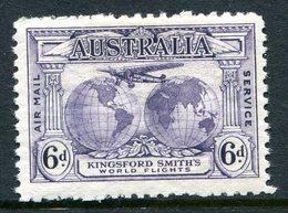Australia 1931 Kingsford Smith's Flights - 6d Violet HM (SG 123) - 1913-36 George V : Other Issues