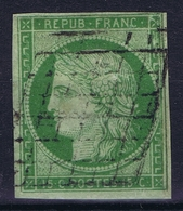 France: Yv 2 1850 Obl./Gestempelt/used  Repaired - 1849-1850 Cérès