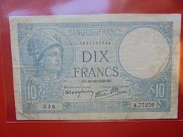FRANCE 10 FRANCS 10-10-1940 CIRCULER (F.1) - 1871-1952 Antichi Franchi Circolanti Nel XX Secolo