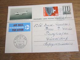 1405   ZURICH  1957  1 ER  VOL  SWISSAIR - ZH Zurich
