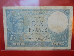 FRANCE 10 FRANCS 17-10-1940 CIRCULER (F.1) - 1871-1952 Antichi Franchi Circolanti Nel XX Secolo