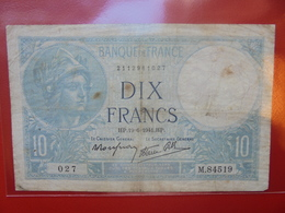 FRANCE 10 FRANCS 19-6-1941 CIRCULER (F.1) - 1871-1952 Antichi Franchi Circolanti Nel XX Secolo